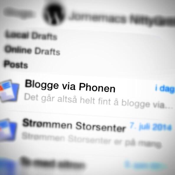 Blogge via Phonen